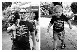 """T-shirt """"Getatoeëerde vader"""" VOLWASSEN MATEN"""