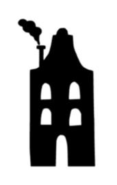Huisje 1 (10x20cm)