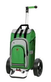 Boodschappenwagen met extra grote kogellagerwielen om voor u uit te duwen, Tura Shopper Hydro 2.0 Groen