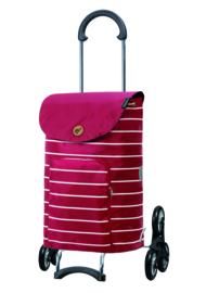 Opvouwbare boodschappentrolley voor de trap, Scala Traploper Shopper Mia Rood