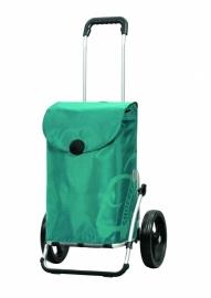Boodschappenwagen met grote 3-spaken wielen, Royal Shopper Pepe Turquoise- 166-050-96