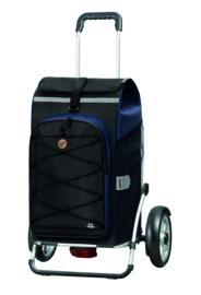 Boodschappenwagen met grote wielen en spatborden voor achter de fiets, Royal Shopper Plus Fado 2.0 Blauw