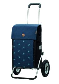 Boodschappenwagen met luchtbanden, Royal Shopper Ando Blauw