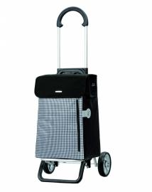 Lichte boodschappenwagen van aluminium, Scala Shopper Plus Petit Zwart- 133-010-80