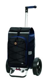 Boodschappenwagen met extra grote wielen voor achter de fiets, Tura Shopper Fado 2.0 Blauw