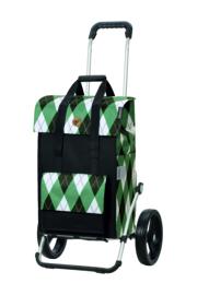 Boodschappenwagen met grote 3-spaken wielen, Royal Shopper Ine Groen