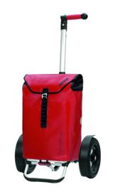 Boodschappenwagen met extra grote luchtbanden, Tura Shopper Ortlieb Rood
