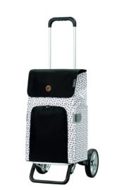 Lichte in hoogte verstelbare boodschappenwagen van aluminium, Alu Star Shopper Mara Wit
