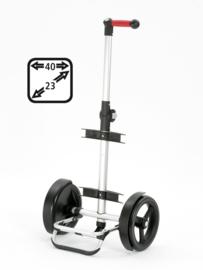 Onderstel Tura Shopper met extra grote wielen met kogellagers, ook om te duwen en voor achter de fiets