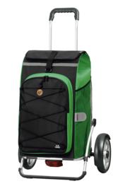 Boodschappenwagen met grote wielen en spatborden voor achter de fiets, Royal Shopper Plus Fado 2.0 Groen