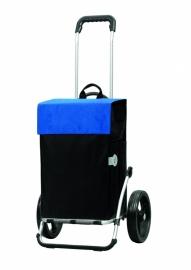 Boodschappenwagen met grote 3-spaken wielen, Royal Shopper Hera Blauw- 166-004-90