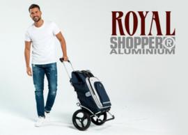 Boodschappenwagen voor achter de fiets met grote wielen met kogellagers, Royal Shopper