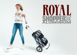 Opvouwbare boodschappenwagen met grote wielen met metalen spaken, Royal Shopper