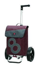 Boodschappenwagen met extra grote kogellagerwielen om voor u uit te duwen, Tura Shopper 360° Boje 8