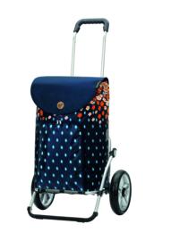 Boodschappenwagen met grote wielen  met kogellagers, Royal Shopper Lily Oranje