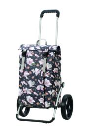 Boodschappenwagen met grote 3-spaken wielen, Royal Shopper Basil Magnolia Pink