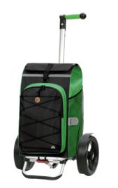 Boodschappenwagen met extra grote wielen voor achter de fiets, Tura Shopper Fado 2.0 Groen