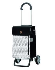 Opvouwbare boodschappenwagen van aluminium, Scala Shopper Plus Tuva Wit