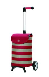 Lichte boodschappenwagen om te duwen of trekken, Unus Shopper Fun Ida Rood