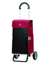 Opvouwbare boodschappenwagen van aluminium, Scala Shopper Plus Mari Rood