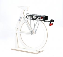 PullEasy, bevestigingsset (met slot en licht) voor de fiets, stevige bagagedrager nodig - G1