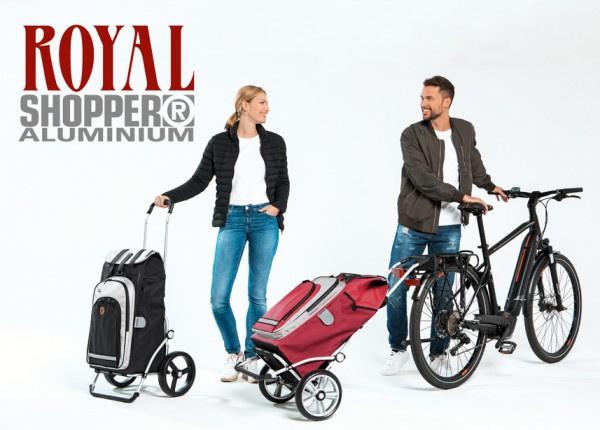 Opvouwbare boodschappenwagen met grote 3-spaken wielen, Royal Shopper