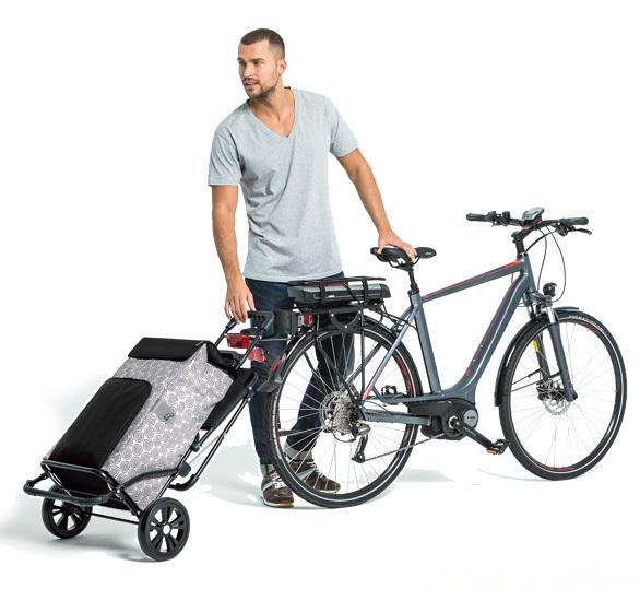 komfort shopper inklapbaar opvouwbaar boodschappenwagen voor achter de fiets van Andersen