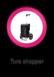 Tura Shopper, boodschappenwagen met extra grote wielen voor achter de fiets