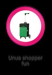 Unus Shopper Fun, boodschappenwagen die u ook kunt duwen