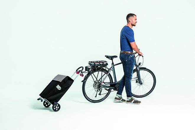 Lichte boodschappenwagen voor achter de fiets