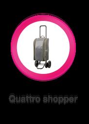 Quattro Shopper, boodschappenwagen die u ook kunt duwen