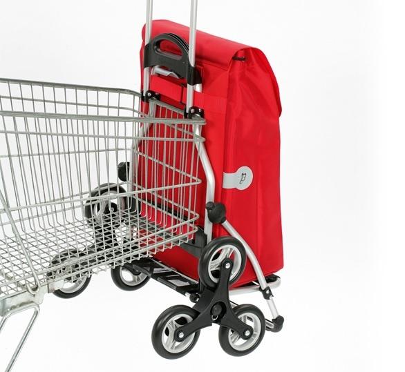 Boodschappentrolley voor aan winkelwagentje