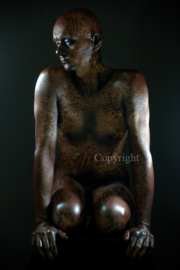 Old Copper Statue (work 3)