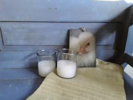 Home97 Buiten kaars in glazen pot (wit)
