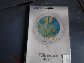 Bon266 Foil ballon Hallo Boy (blauw)