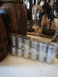 Home71 Kaars in glas, zilver
