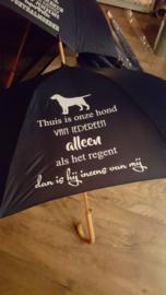 Paraplu Thuis is onze hond van iedereen