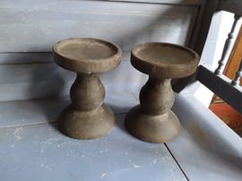 Bon481 Kandelaar, bruin steen (groot)