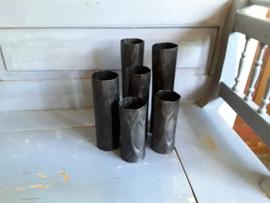 Trend274 Zwart metalen vaas (middel)