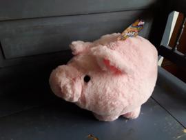 Bon69 Zacht spaarvarken groot/roze