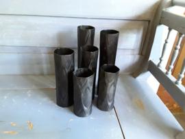 Trend275 Zwart metalen vaas  (groot)