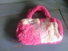 S121 Tasje roze met glim vlinder