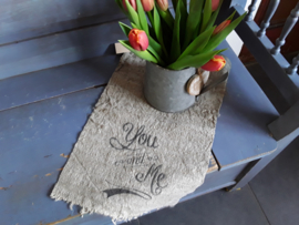 Nino16 Shabby doek You and me (ong 30x45 cm)
