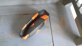 S357 Voetbal zwart oranje