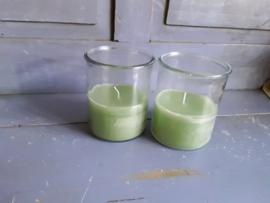 Home98 Buiten kaars in glazen pot (groen)