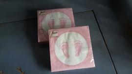 M30 servet voetje girl (roze)