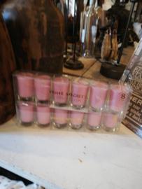 Home69 Kaars in glas, roze