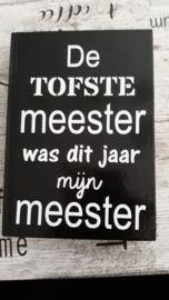 De tofste Meester/Juf Notitieboek