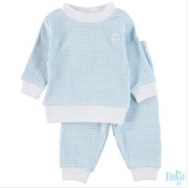 Wafel pyjama 305-532 blauw