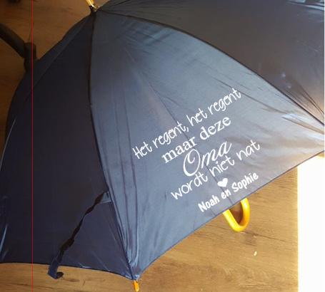 Paraplu Het regent, het regent Oma